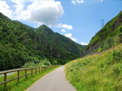 Cycle path of river Serio