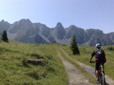 Da Schilpario al rifugio Campione in Mountain Bike