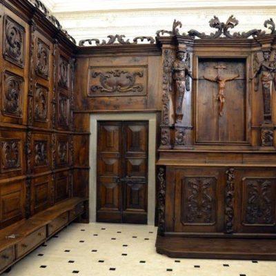 La Sacrestia lignea della chiesa di S.Giovanni Battista – Casnigo