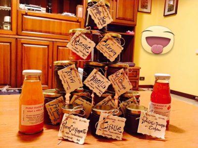 Composte di frutta dell'Az. Agr. Tarangolo