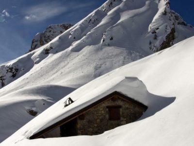 Ski-alp at Passo del Branchino