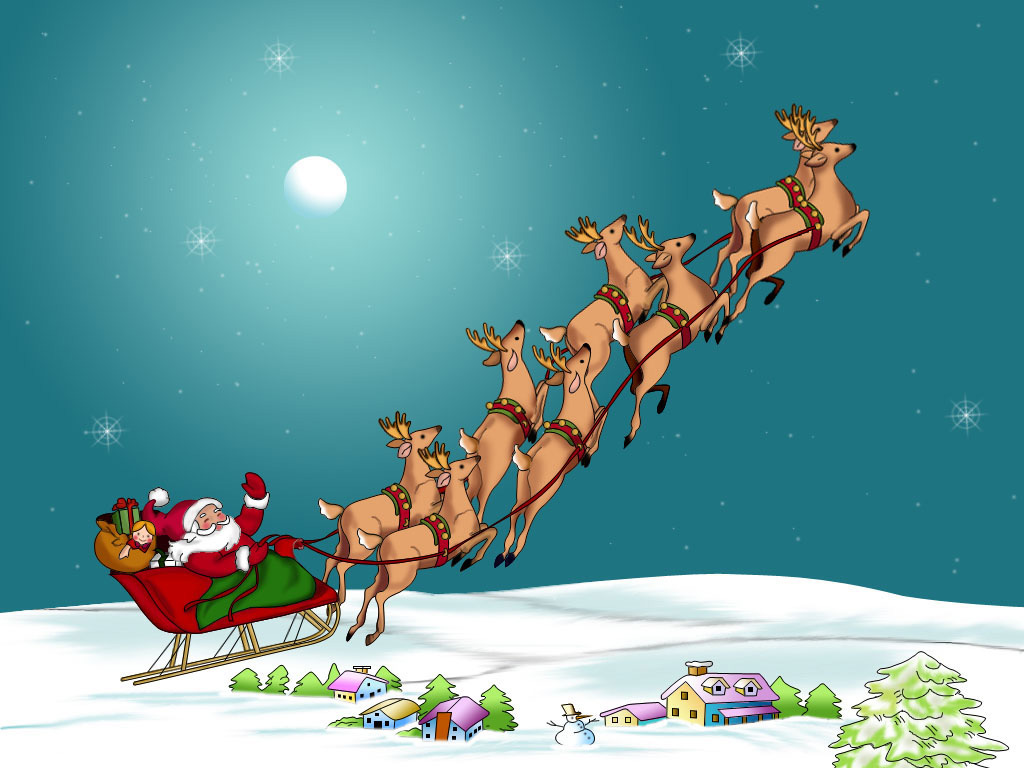 babbo-Natale-con-la-slitta