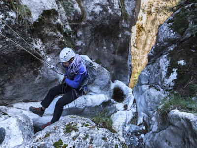 Dry Canyoning in Val Borlezza